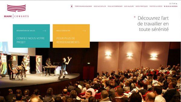 Nouveau site Internet Palais des congrès de Beaune